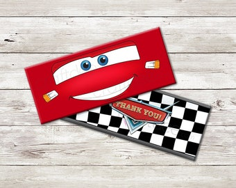 Lightning McQueen Wrappers - Cars Birthday Party