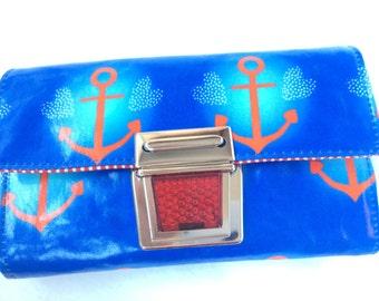 Purse MIDI anchor blue