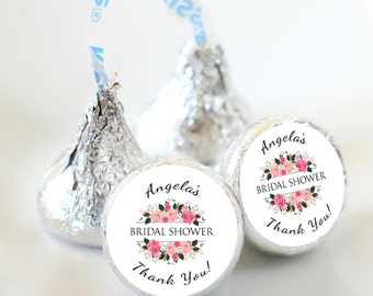 108 Bridal Shower Hershey Kiss® Stickers  - Bridal Shower Kiss Labels - Candy Labels - Custom Labels - Bridal Shower Favors - Candy Stickers