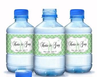 Wedding Water Bottle Labels, 30 Monogram Water Bottle Labels, Bottled Water Labels, Wedding Water Labels, Welcome Wedding Bags, Custom Color