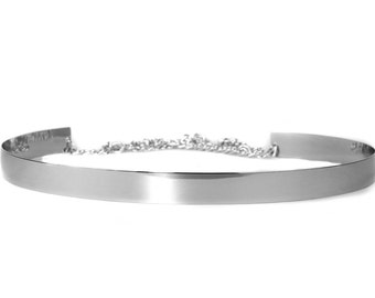 Thin Silver Belt