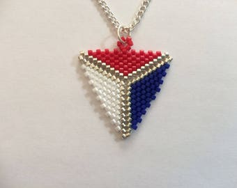 Peyote Triangle Pendant Necklace