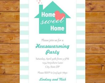 House Warming Invitation - Housewarming Party Invitation - Printable, Custom, Digital File