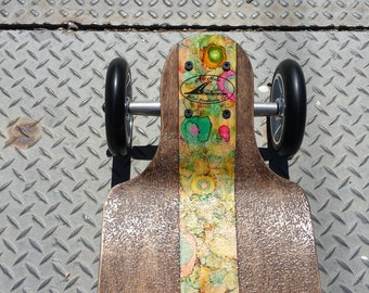 "FREE Shipping! Ala Nalu Longboard Skateboard Land Paddling Carving Cruising Longboarding ONE of a KIND model:  ""Cross Mille Fiore"""