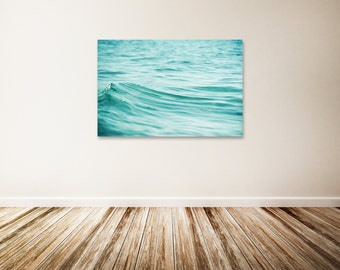 Water Canvas Print, Large Beach Canvas Art, Teal Wall Decor, Wave Canvas  Gallery