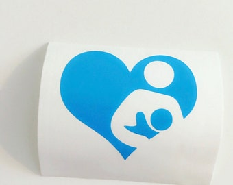 Breastfeeding Car Decal Breastfeeding Support All Natural Eat local