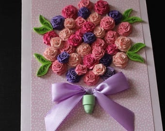 Handmade, quilled greeting cards