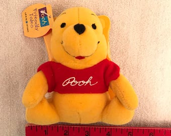 Mini Disney's Winnie The Pooh Story Book With Attached Plush