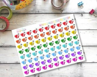 B4 Hair color beauty salon appointment planner stickers for Erin Condren Life Planner
