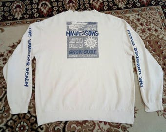 Vintage maui and sons big logo  skateware