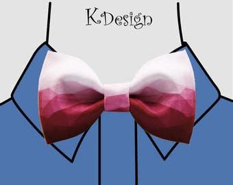 red ripple Bow Tie Mens Self Tie Bow Ties Pretied Bow Tie Mens Tie  ripple Bow Tie Fathers Day Gift Weding Bow Tie