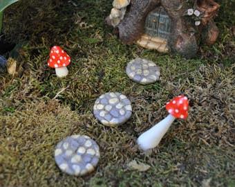 Miniature Stepping Stones+Fairy Garden+Fairy Garden Accessory+Fairy Garden Miniature+Doll House Miniatures