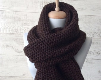 Mens knit scarf, oversized knit scarf, mens winter scarf, oversized knit scarf, mens fashion, infinity scarf knit / FAST DELIVERY