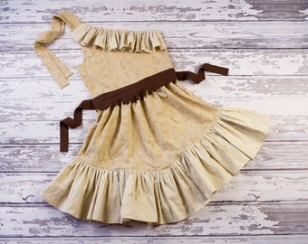 Pocahontas Inspired Dress Up Costume, Girls and Toddlers Princess Dress, Disney Vacation Dress, Sz 2T - 10