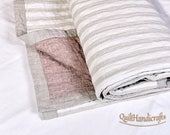 Terri Custom Made Additional Cost. Flax King size quilts. Middle layer 100% cotton