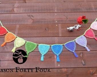 Handmade 'Granny Rainbow' Crochet Bunting/Garland