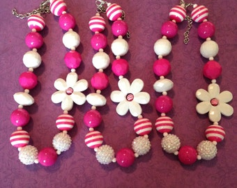 Flower chunky necklace