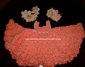 Baby dresses, Spring dresses, Summer dresses, Sleeveless dresses, Peach dresses, 6 to 9 months, Homemade dresses, Baby Easter Dresses
