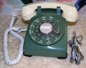 Ugly Rotary Dial Desk Telephone (restored)
