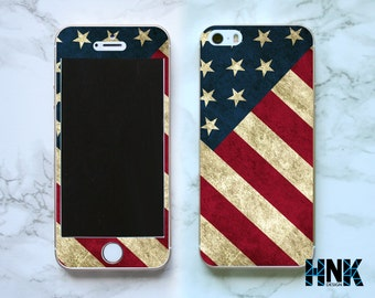 Iphone SE full skin / Iphone 5s decal / Iphone 5 decorative cover / flag case IS020