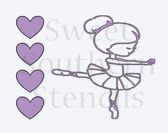 Ballerina PYO Cookie Stencil