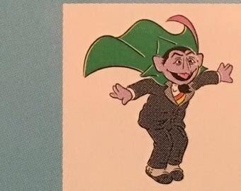 Count Dracula die cut from Sesame Street