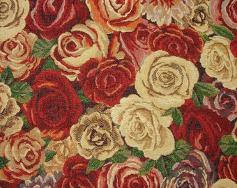 Tapestry Floral Luxury Designer Fabric Ideal For Upholstery Curtains Cushions Throws