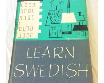 Learn Swedish Vintage Hardcover Language Book