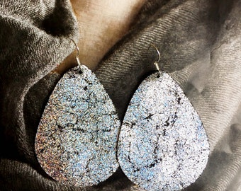 Rupert and Stella Leather Earrings - Shattered