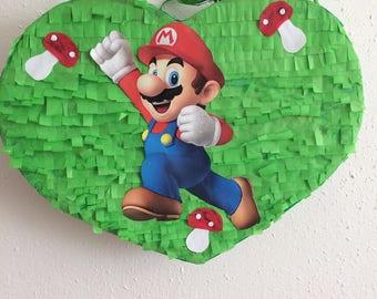 Pinata Heart Mario and Luigi