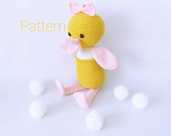 Pattern amigurumi duckling, Pattern crochet duck, Duck crochet pattern, Duck amigurumi pattern