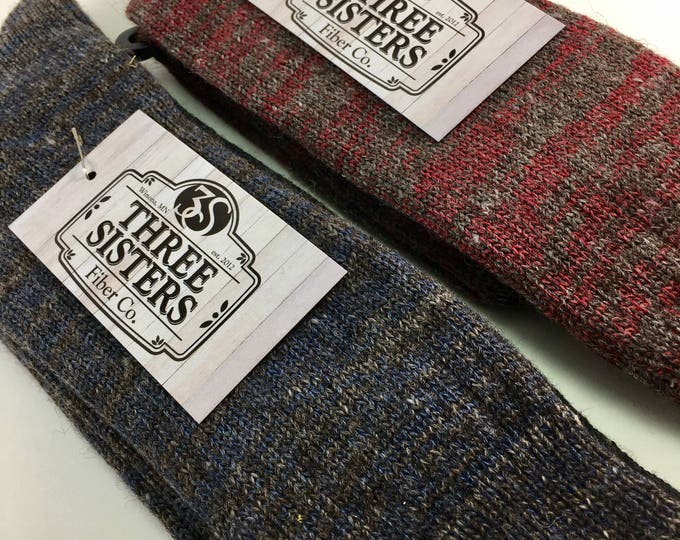3S MN Crew Sock...locally grown, processed and machine knit in MN & WI.  Alpaca, wool and nylon.