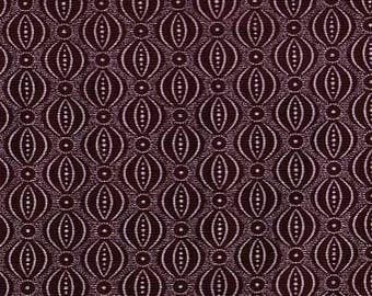 Brown cotton shweshwe fabric with small ornament design from South Africa sold by the yard