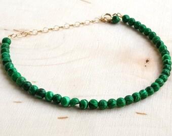 Malachite Layering Bracelet