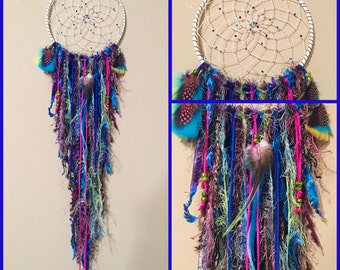 CUSTOM !!! Native Style Dreamcatcher with a Mix of Boho //  Wall Hanging // Boho Decor