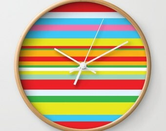 Colorful wall clock Etsy