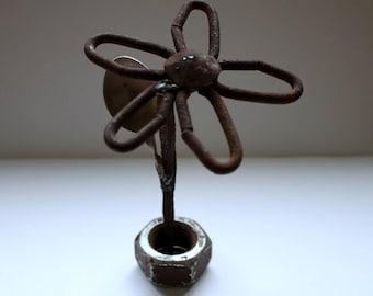 Metal rusty Flower-1. Handmade. Art object