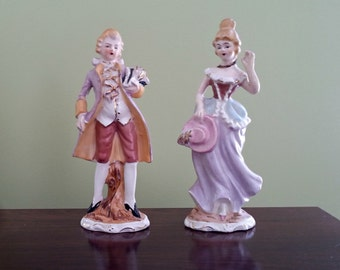 Royal Sealy French Rococo Style Figurine Set
