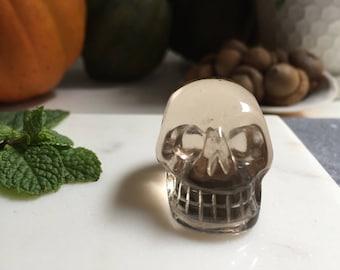 Smokey Quartz Crystal Skull.