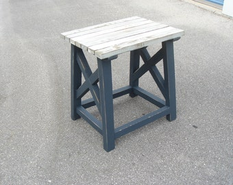 Rustic Side Table made from DockPieces // Homemade  // Shabby chic // Reclaimed Marine Timber