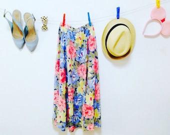 70s Skirt, Vintage 1970s, Skirt, Skirts, Vintage skirt, women skirts, Womens skirt, Women skirt, Print Cotton Skirt Size-M-L