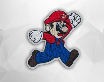 Mario Iron on Patch (M2)-Cartoon Applique Embroidered Iron on Patch- Size 6.3x6.7 cm