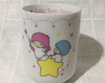 Vintage 1985 Sanrio Little Twin Stars Japanese Tea Cup