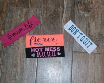 Headbands, customize headband, Work out head band, work out, Mom, girl headband