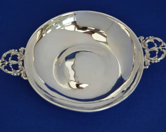 Vintage Solid Sterling Silver Quaich Drinking Bowl - A.J.Jones 1963 - Scotland Traditional - Burns Night -Scottish Celtic - Whiskey