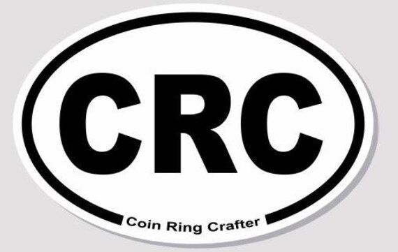 Coin Ring Crafter Vinyl Oval Sticker - Black & White (FREE SHIPPING)