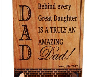 Daughter to Dad Gift, Dad Appreciation Gift,Thank You Dad Gift, Keepsake Gift, Fathers Day Gift, Gift to my dear Father, PDL032