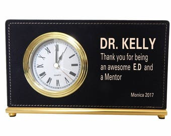 Gift to my Executive Director and my Mentor, Appreciation Gift to Supervisor, Thank you Custom Gift to my Boss, Custom Desk Clock, LB002