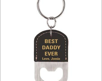 Best Daddy Ever Gift from Daughter, Fathers day Key ring Gift, Personalized Bottle Opener Key chain for Dad's Birthday, Gift to Dad, LCK004