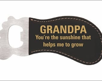 Grandpa's Magnetic Bottle Opener, Fathers day Gift, Custom Gift to Grandfather, Personalized Bottle Opener for Popi's Birthday, LBO007